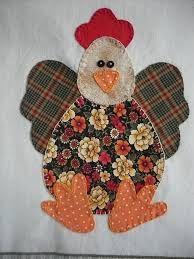 ARTESANATO FOFO: PATCH APLIQUÊ EM PANO DE COPA Applique Patterns, Applique Quilts, Applique Designs, Embroidery Applique, Quilt Patterns, Small Sewing Projects, Sewing Crafts, Chicken Quilt, Chicken Pattern