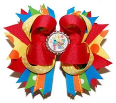 Sesame Street Party Large Layered Bow ABSD by bowsalamode on Etsy, $9.99