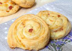 Girelle di sfoglia Patate Gorgonzola e Pancetta