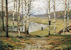 Yefim Yegorovich Volkov - October, (1883). Oil on canvas, 38 x 55 cm. The State Tretyakov Gallery, Moscow, Russia.