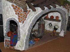 Construcción de un portal Little Falls, Christmas Villages, Fairy Houses, Craft Patterns, Diorama, Projects To Try, Arts And Crafts, Miniatures, Drawings