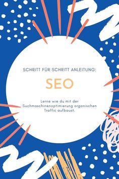 Lerne wie du mit der Suchmaschinenoptimierung organischen Traffic aufbaust. Im Online, Data Analytics, Search Engine Optimization, Online Marketing, Online Business, Social Media, Messages, Seo Tips, Blogging