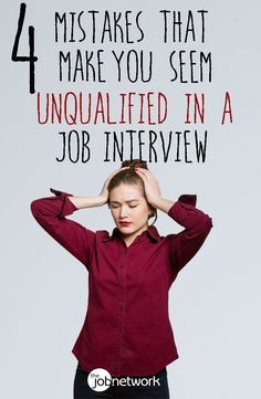 Job interviews are often your best chance of showing that you are the right person for the job. But even if you have all of the ideal experience and talent, if you make a big misstep in the interview, you'll be passed over for someone else—even if that someone is slightly less qualified than you are.