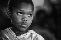 Huérfano, África, Africano, Niño, Retrato
