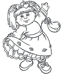 10 Cute Coloring Pages, Coloring For Kids, Coloring Sheets, Adult Coloring, Coloring Books, Colouring, Pound Puppies, Tattoos For Kids, Cabbage Patch Kids