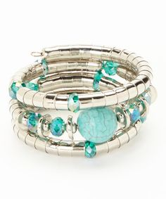 Turquoise Magnesite Coil Bracelet #zulily #zulilyfinds ‪#‎boho‬ ‪#‎southwest‬ ‪#‎turquoise‬ ‪#‎jewelry‬ ‪#‎jewelrysale‬ ‪#‎giftidea‬ ‪#‎bracelet‬ ‪#‎necklace‬ ‪#‎earrings‬ ‪#‎gemstone‬ ‪#‎sale‬ ‪#‎gift‬ ‪#‎fashion‬ ‪#‎fashionjewelry‬ ‪#‎pavcusdesigns‬