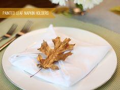 DIY for Painted Leaf Napkin Ring