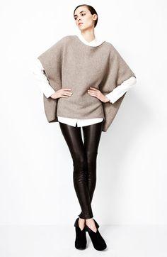 Cashmere Poncho - chic minimalist knitwear // Vince
