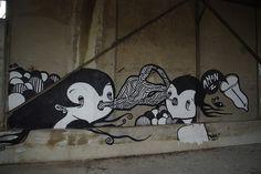 #streetart #goddog  TWIN by - GoddoG -, via Flickr Urban Street Art, Street Art Graffiti, Awesome Art, Twin, Snoopy, Dogs, Fictional Characters, Street Art, Doggies
