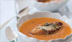 Butternut Squash Soup With Fontina Crostini -Shape Magazine