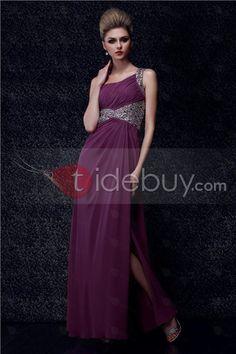 Floor-Length A-line One-Shoulder Split-Front Dasha's Evening Dress