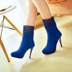 New Arrival Delicate Pointed Toe Hollow Out Stiletto Heel Fashion Boots,Click the Picture to  #buy It Now from #BagsQ.