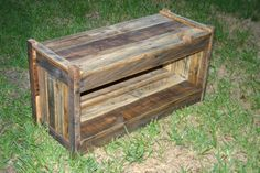 Storage Bench Seat Rustic Country Reclaimed by GreenSouthLiving, $285.00