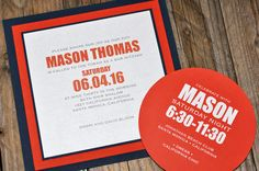 Bar Mitzvah Invitation from B.T. Elements! Looks great with the layered card and circular reception card!