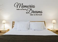muurtekst, muursticker, memories, dreams, slaapkamer, sticker