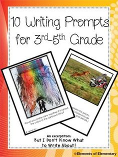 Perfect for quick writes, independent writing, early finishers, and reluctant writers! Ten FREE picture writing prompts, with fun, colorful images to spark your student's imaginations.