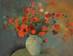 artnet Galleries: Les coquelicots by Odilon Redon from Galerie Tamenaga