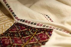 Handmade by Caro Barzaianu Folk Embroidery, Linen Fabric, Hand Stitching, Textiles, Costume, Handmade, Women, Fashion, Moda