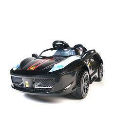 Look what I found on #zulily! Black Italian Supercar Ride-On #zulilyfinds