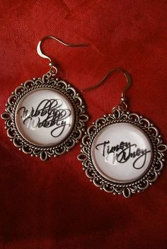 Wibbly Wobbly Timey Wimey...stuff- Doctor Who inspired earrings