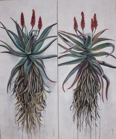 Aloes, 120x50cm, oil on canvas by Christelle Pretorius. www.christelledv@live.com