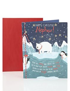 Nephew Winter Scene Christmas Card | M&S