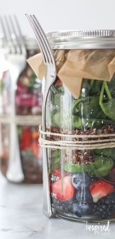Delicious collection of unique salad recipes - made in mason jars!