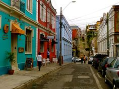 Streets in Valparaiso, Chile