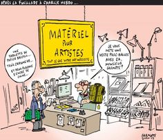 Le Devoir Bristol, Caricatures, Charlie Hebdo, Crayon, Peanuts Comics, Paris, Photo Galleries, Flasks, Ink