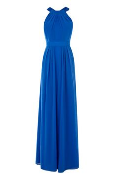Blue high neck dress - beautiful