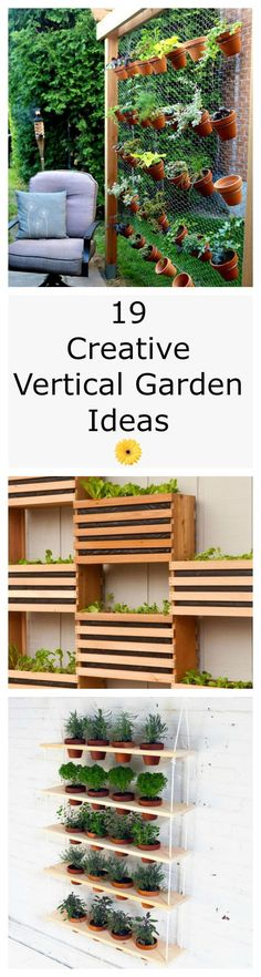 As long as youve got a blank wall or a bare fence that needs beautifying, you can tend edibles, annuals, even perennials with these vertical gardening ideas — all of which inspire high hopes for the season ahead. - My Secret Garden Balcony Garden, Herb Garden, Home And Garden, Garden Trees, Garden Plants, Vertical Garden Diy, Vertical Gardens, Small Gardens, Garden Projects