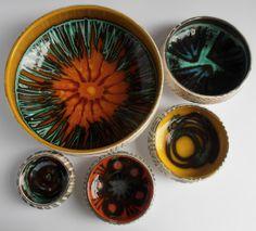 marcus hay fluff 'n' stuff: Poole Pottery/ Delphis Range 1960/70's