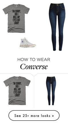 """""""Never"""" by holyroller-89 on Polyvore featuring Converse"""