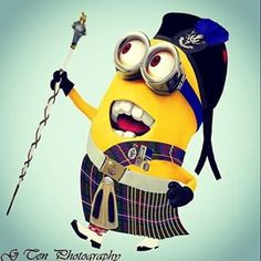 Scottish Minion!!!!!! Minion Rock, My Minion, Yellow Guy, Scottish Culture, Laughter The Best Medicine, Dark And Twisty, Great Love Stories, Celtic Designs, Minions Quotes