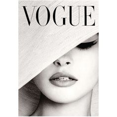 VOGUE MAGAZINE COVER Vintage Black and White Hat Fashion Cover Art... (6.52 CAD) ❤ liked on Polyvore featuring home, home decor, wall art, fillers, magazine, vintage home decor, photography wall art, vintage wall art, black white wall art and vintage home accessories
