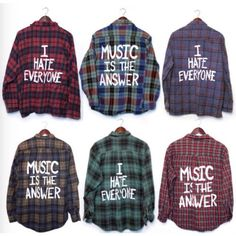 Custom Painted Mystery Flannel- Grunge- Any Size ($28) ❤ liked on Polyvore featuring tops, shirts, grunge tops, flannel top, shirt tops, flannel shirts and grunge flannel shirts