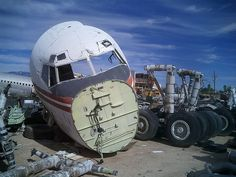 From the airplane graveyard in Arizona.