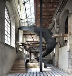 Industrial Architecture, Architecture Old, Amazing Architecture, Factory Architecture, Warehouse Apartment, Warehouse Living, Industrial House, Industrial Style, Watercolor Architecture