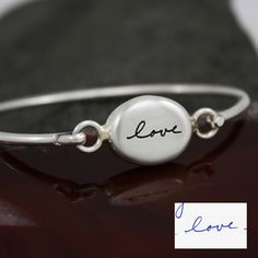 Custom Made Handwriting Dainty Bracelet