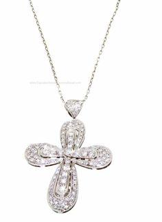 Nardelli Collana da donna con ciondolo croce