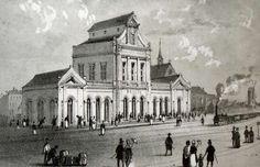 Deze gravure is onderdeel van de expo 'van aardeweg tot ijzerweg' te Ronse en toont het eerste station te Brugge, datzelfde station dat nu nog altijd het station van Ronse is.