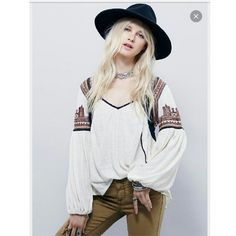 $128 NWT FREE PEOPLE Snow Kisses top, small ivory Brand new with tags Free People Snow Kisses Top,  size small,  ivory retail $128. Price firm Free People Tops