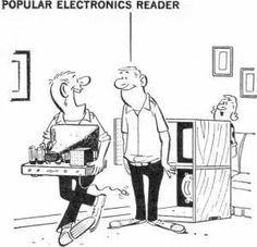 Tv repair cartoon electronics