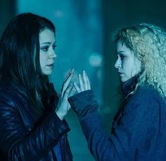 #OrphanBlack. I love this picture. Helena and Sarah seem to be on the same side now, becoming sisters by relationship not just by blood :) #CloneClub