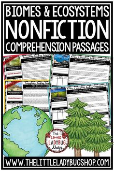 You will love using these Biomes & Ecosystems Reading Comprehension Passages! These are perfect for: Warm-up, Bell Work, Homework, or Quick Assessments. Students can use independently in literacy groups, guided reading groups. These reading passages for 3rd grade, 4th grade and home school students. #readingcomprehension #readingpassages #biomesandecosystems