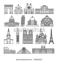 Mosque Line Stock Vectors & Vector Clip Art   Shutterstock