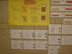 """Pumpkin tally graph- could do this with """"turkey data"""". practice transferring data to pie graph, bar and picture graphs too! Types Of Graphs, Pie Graph, Math Workshop, Pilgrims, Holiday Crafts, Pumpkins, Apples, School Stuff, Classroom Ideas"""