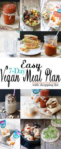 Easy 7-Day Vegan Meal Plan with Shopping List | www.veggiesdontbite.com | #vegan #wholefoods #mealplan #WellnessYourWay via @veggiesdontbite