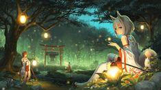 Miko Fox Anime Wallpaper