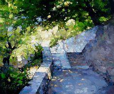 """lawrenceleemagnuson: """" Alexi Zaitsev (b. Russia 1959) Maritime Lane oil on canvas (2013) http://www.artrussia.ru/artists/artist_s.php?id=421&foa=f """""""